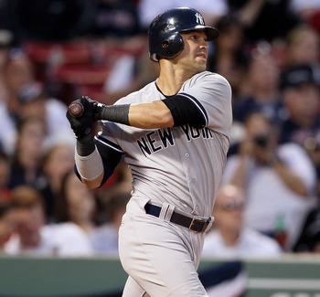 Nick Swisher's grand slam on April 21 helped key a comeback from a 9-0 deficit at Fenway Park.