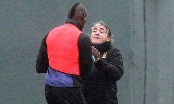 Mario Balotelli and Roberto Mancini had a bust-up earlier today - Image courtesy of web.orange.co.uk