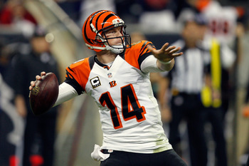 Andy Dalton could not find any kind of rhythm against the Texans today and provided a dismal performance.