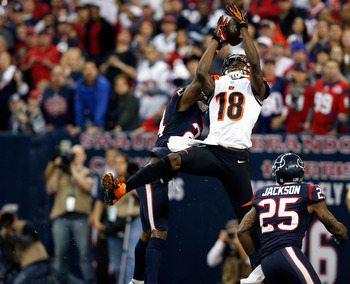 A.J. Green did not see a target in the first half but made up for it in the second.