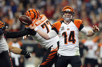 The Bengals offensive line could not give Andy Dalton the time to find his receivers down field.
