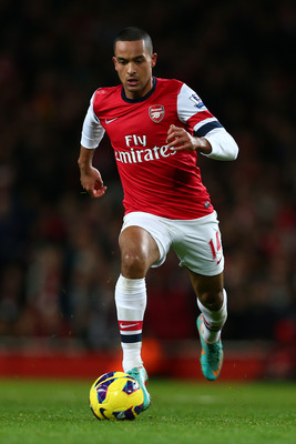 At his best, Theo Walcott can be a very dangerous striker.