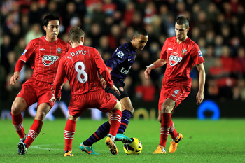 Theo Walcott was crowded out at Southampton.