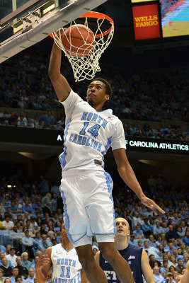Desmond Hubert gives North Carolina a shot-blocking presence in the paint.