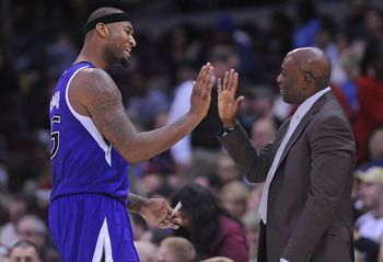 Sacramento Kings DeMarcus Cousins, Coach Keith Smart