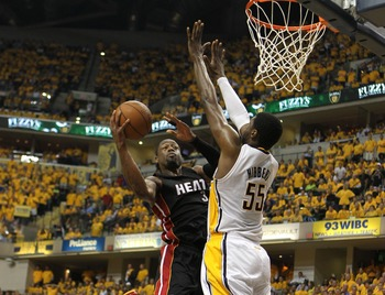 The Pacers outscored the Heat in the playoffs with Roy Hibbert on the court.