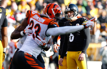 Suisham couldn't set the Heinz Field record for longest field goal against the Bengals.