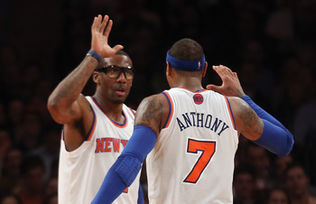 Stoudemire an Anthony have played well together in two games this year.