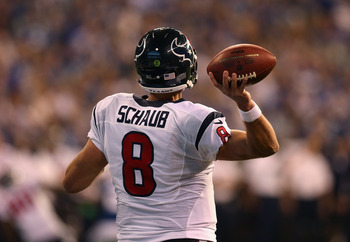 Schaub makes his first postseason start on Saturday.