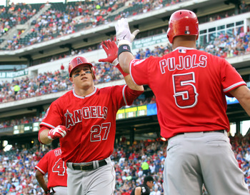Mike Trout and Albert Pujols are ready to welcome Josh Hamilton to the family.