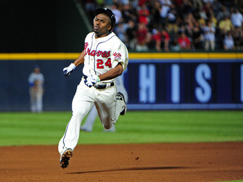 Bourn arrived in Atlanta midway through the 2011 season.