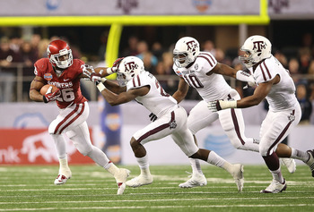 The Aggie defense hounded Damien Williams and stifled the Sooner rushing attack.