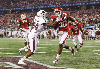 Javon Harris' interception was the defensive play of the game for Oklahoma.
