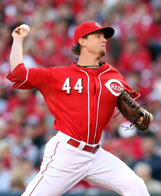 Mike Leake's role for 2013 is still up in the air.