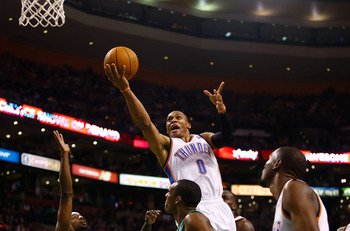What is Russell Westbrook thinking taking an open layup instead of just giving it to Kevin Durant?