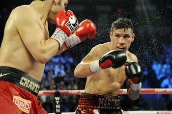 Julio Cesar Chavez Jr. facing Sergio Martinez.