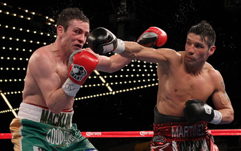 Matthew Macklin getting beat down by Sergio Martinez.