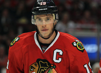 It's a rare occasion to see Jonathan Toews showing much emotion on the ice