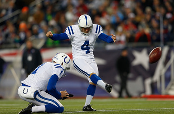 The tag team of Adam Vinatieri and Pat McAfee has been pretty good over this last half of the season.