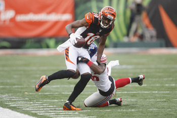 A.J. Green breaking tackles and Giants' hearts.
