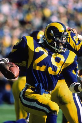Eric Dickerson is the single-season rushing leader.