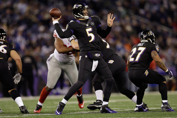 Flacco can be great at times, and now would be the time if his team is going to win.