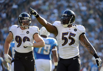 Paul Kruger and Terrell Suggs have their work cut out for them against an elite offensive line.