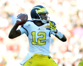 Devin Gardner will be replacing Denard Robinson at quarterback for the 2013 season.