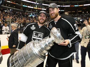 Mike Richards (left) and Jeff Carter