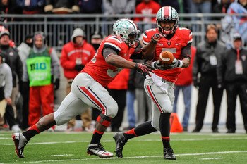 Late in the 2012 season, defenses were able to focus all of their attention on Braxton Miller and Carlos Hyde.