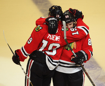 Jonathan Toews and Patrick Kane will help the Blackhawks take the top spot in the Western Conference.