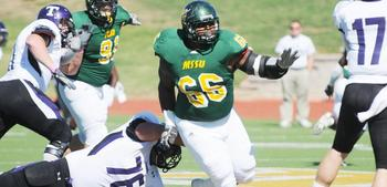 Missouri Southern DT Brandon Williams. Photo Courtesy of mssulions.com