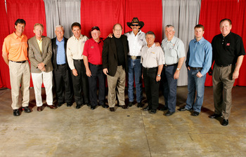 Junior (second from right) with some of the sport's greats back in 2005. He likely would have fit right in back in the day.