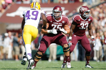Texas A&M OT Jake Matthews (75)