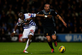 Liverpool defender Jose Enrique picked up a hamstring injury in last month's win at QPR.