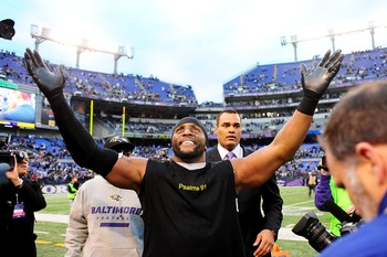 Baltimore Ravens linebacker Ray Lewis.