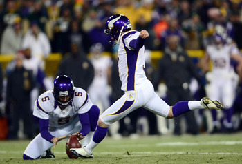 Blair Walsh was 10-of-10 on field goals of 50 yards or longer in 2012.