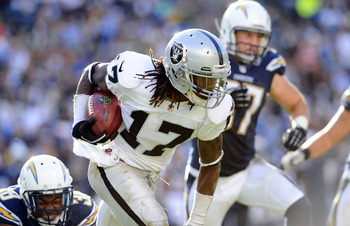 Denarius Moore caught seven touchdown passes in 2012.