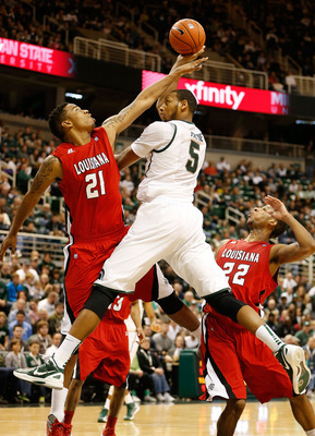 Adreian Payne's length allows him to create shots that others can't.