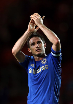 SOUTHAMPTON, ENGLAND - JANUARY 05:  Frank Lampard of Chelsea thanks the support after the FA Cup Third Round match between Southampton and Chelsea at St Mary's Stadium on January 5, 2013 in Southampton, England.  (Photo by Julian Finney/Getty Images)
