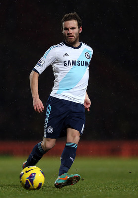 NORWICH, ENGLAND - DECEMBER 26:  Juan Mata of Chelsea in action during the Barclays Premier League match between Norwich City and Chelsea at Carrow Road on December 26, 2012 in Norwich, England.  (Photo by Julian Finney/Getty Images)