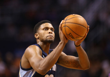 Rudy Gay is the least efficient of a contending team's best players.