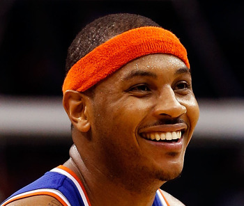 Carmelo Anthony is having an efficient season in New York.