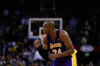 OAKLAND, CA - DECEMBER 22:  Kobe Bryant #24 of the Los Angeles Lakers in action against the Golden State Warriors at Oracle Arena on December 22, 2012 in Oakland, California. NOTE TO USER: User expressly acknowledges and agrees that, by downloading and or
