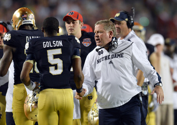 Brian Kelly was outcoached by Nick Saban in Miami.