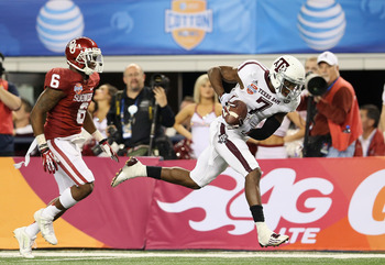 Uzoma Nwachukwu scores against Oklahoma.
