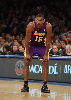 Metta World Peace is playing the most MPG of any of his four seasons as a Laker
