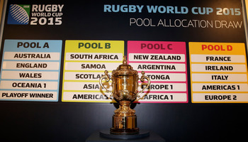 The William Webb Ellis Trophy could be anyone's in 2015.