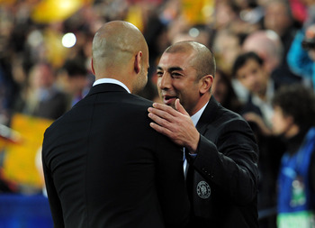 Former Chelsea manager Roberto Di Matteo left Guardiola heartbroken after the Blues beat Barcelona in the Champions League semifinal last season.