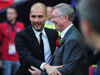 Sir Alex Ferguson views Guardiola as a potential candidate to succeed him at Manchester United.